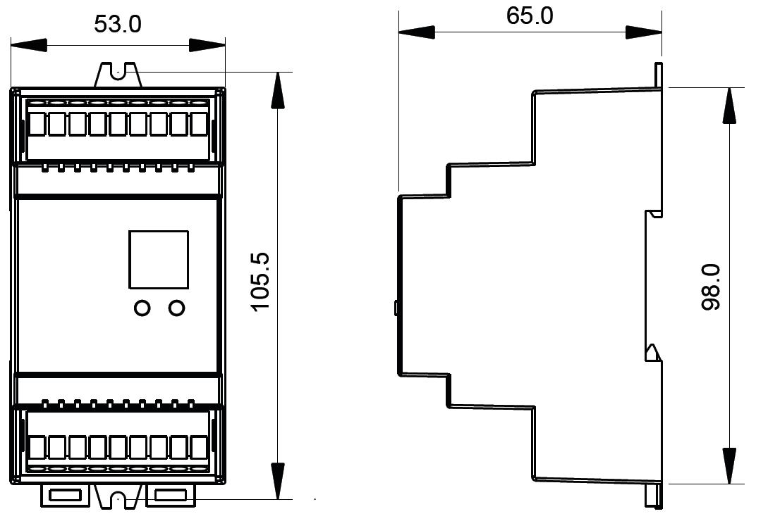 gradateur dali et poussoir pour rail din avec 4 canaux